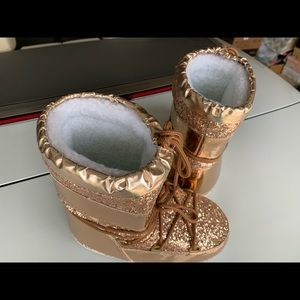 Rose Gold Glitter/foil bling Moon boots